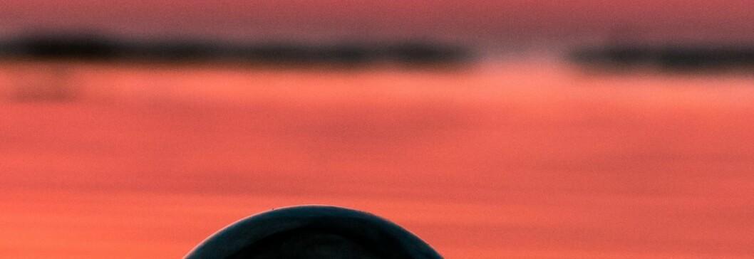 Speilbilde av fjorden.