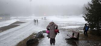Konnerud 20200117.  Is og hardpakket snø preger områden rundt Konnerud stadion hvor Ski NM er om snaue 14 dager. Foto: Terje Bendiksby / NTB scanpix