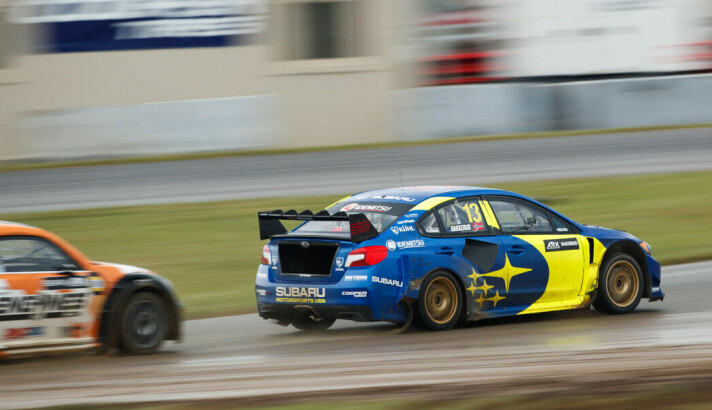 Andreas Bakkerud fra da han var reservefører for Subaru i 2019.